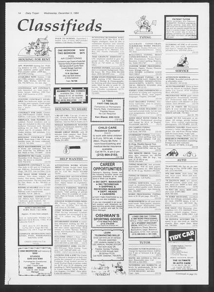 Daily Trojan, Vol. 97, No. 63, December 05, 1984