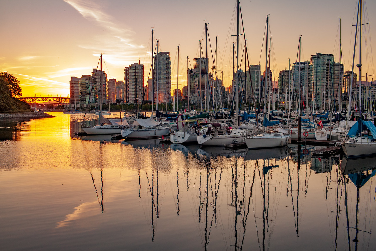 View Of Vancouver Harbor is one the reasons people put up with the high cost of living in Vancouver, British Columbia Canada