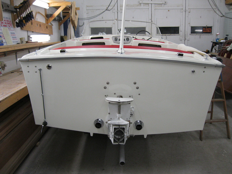 Transom complete with new hardware installed.