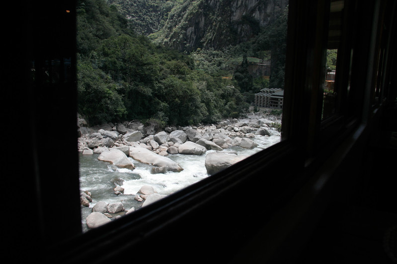 A view of the Rio Urubamba from my lunch table at Toto's House.