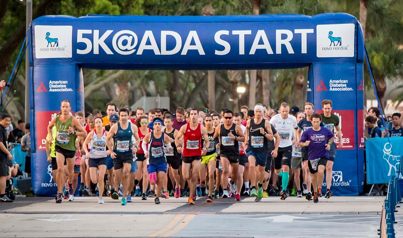 Attendees during 5K @ ADA