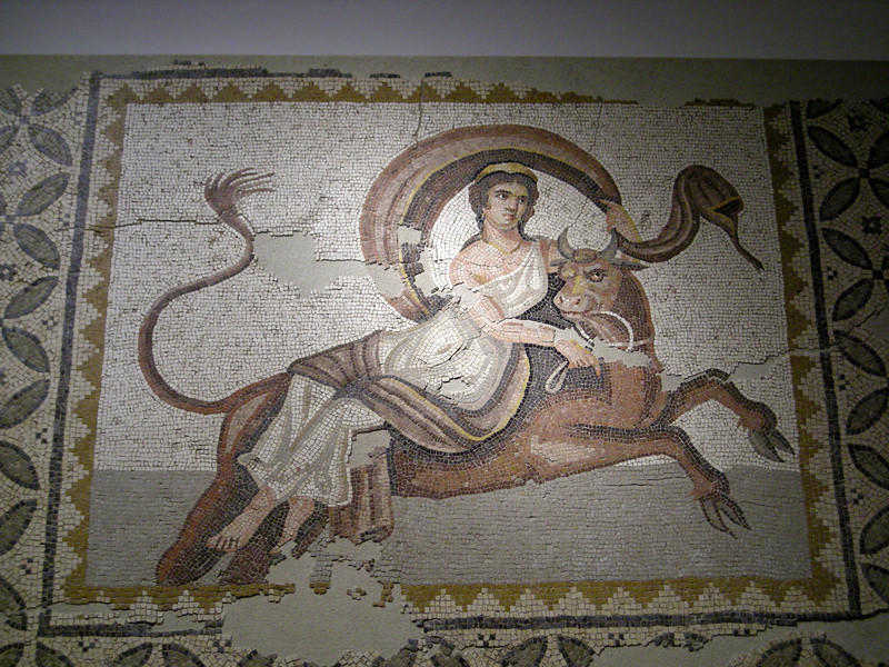 mosaic of Europa at the National Museum in Beirut