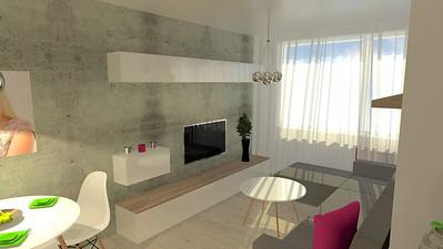 Obývací pokoj se sklopnou postelí