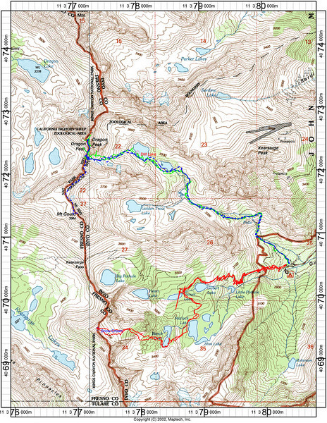 Dragon track map