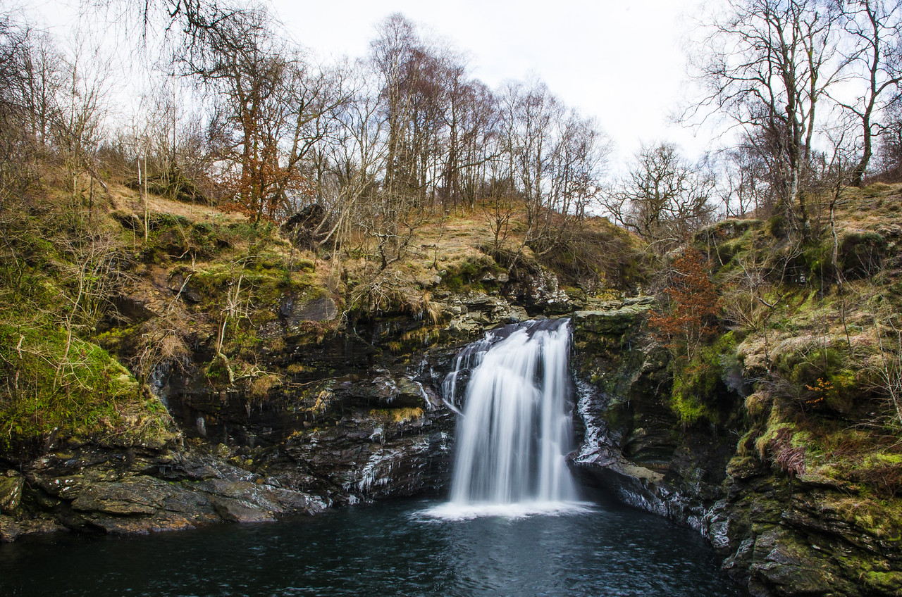 Falls of Falloch - Driving the NC500 in winter