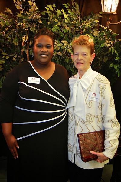 Jean Abrams Haynes, Cassandra Bell-Gash. Scholarship Luncheon at Gardner-Webb University.