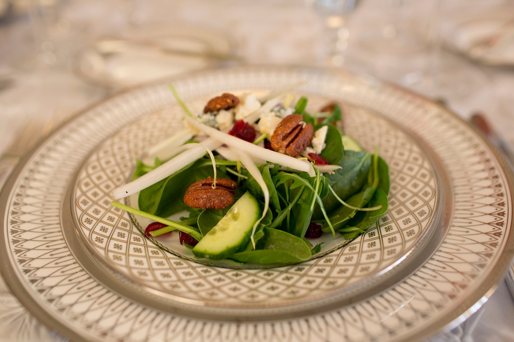 An endive and spinach salad by The Casual Gourmet for your Cape Cod wedding. - Home - The Casual Gourmet, Cape Cod Wedding Caterer