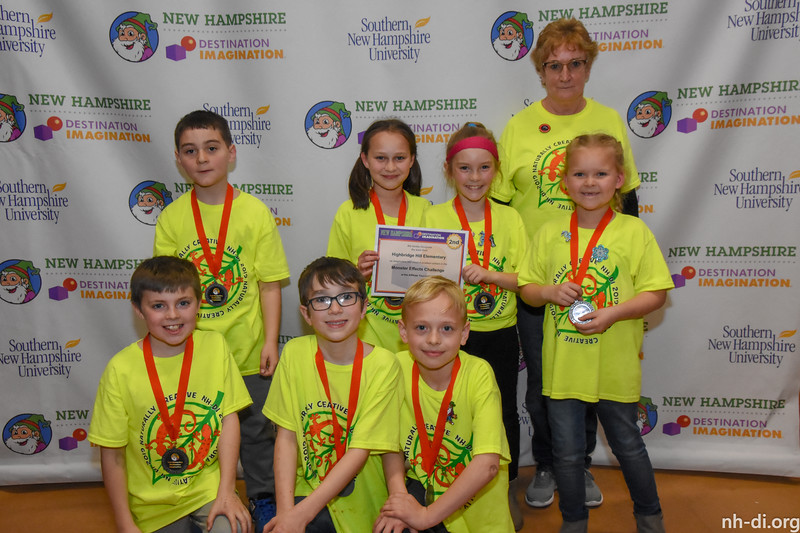 2nd place. 130-23616 ,Highbridge Hill Elementary, , New Ipswich, NH, Engineering Challenge- Monster Effects, Elementary Level