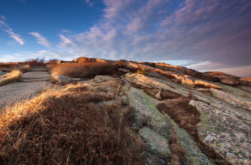 late afternoon light on Cadillac Mountain