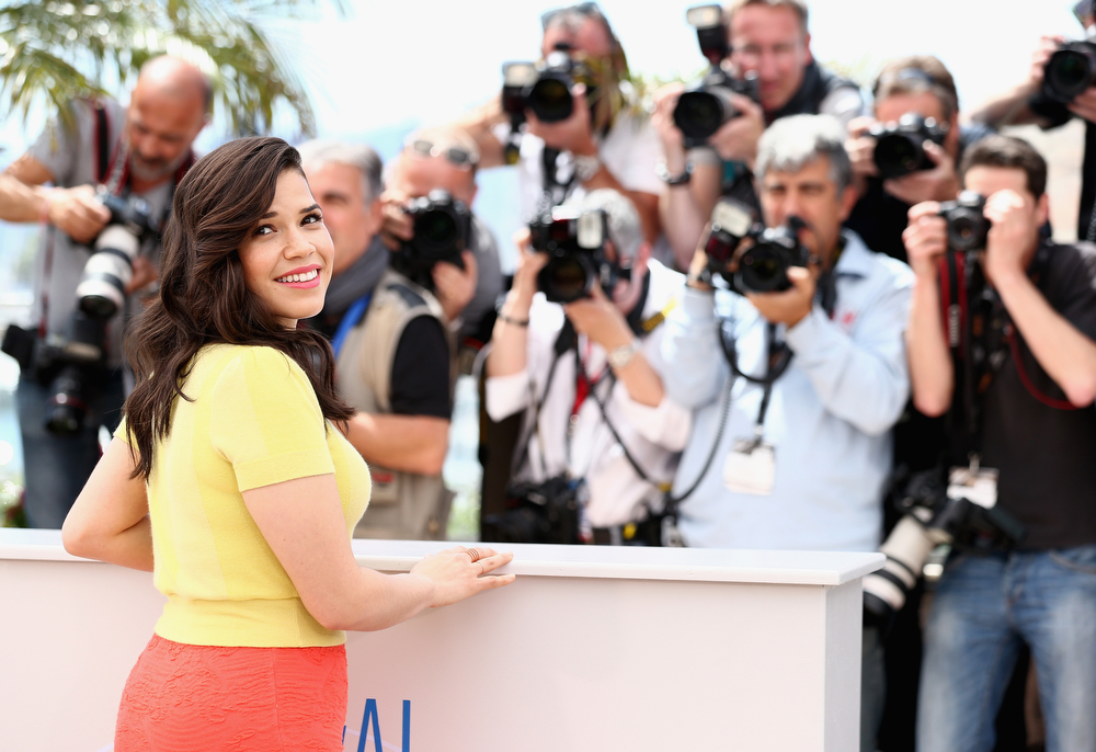 ". Actress America Ferrera attends the ""How To Train Your Dragon 2\"" photocall during the 67th Annual Cannes Film Festival on May 16, 2014 in Cannes, France.  (Photo by Andreas Rentz/Getty Images)"