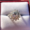 2.87ctw old European Cut Diamond Spray Ring GIA J SI1 17