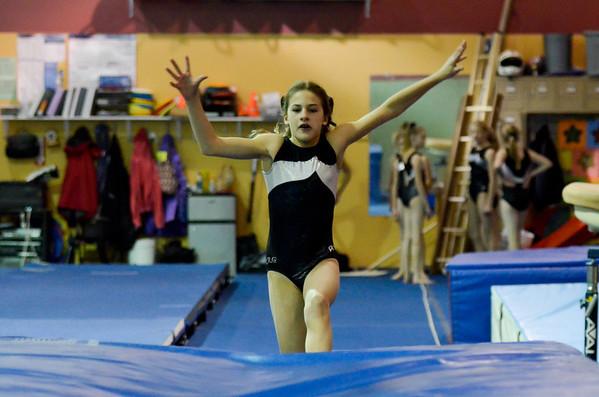 Gymnastics 2010 December Practice