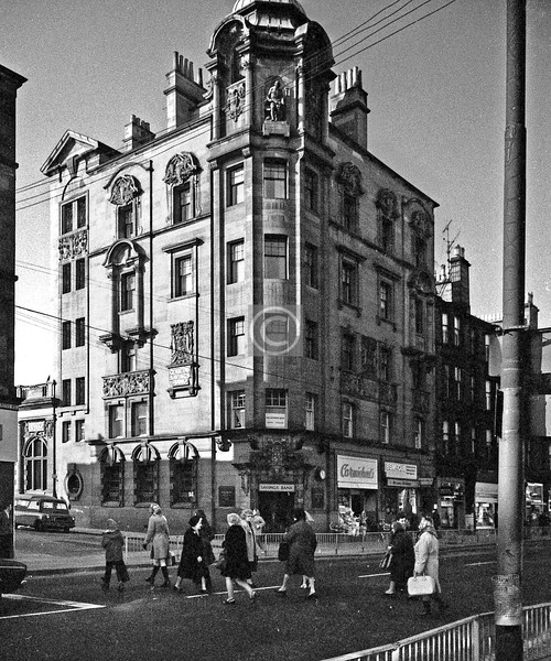 Corner of Burgher St and Tollcross Rd.   Parkhead Savings Bank (1908, by John Keppie who at that time was in uneasy partnership with C R Mackintosh).