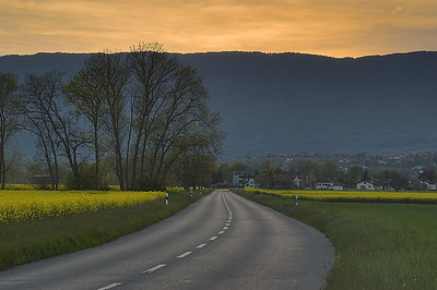 Sunset Route d'Avully
