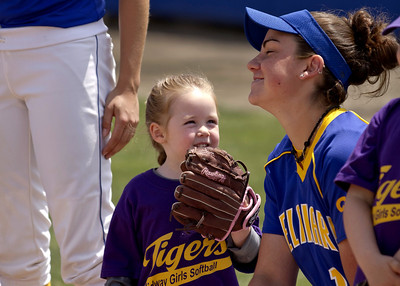 Baseball and Softball players with kids  5-11