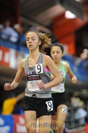 Girls' 5000, Michigan  only - 2013 New Balance Indoor HS Nationals