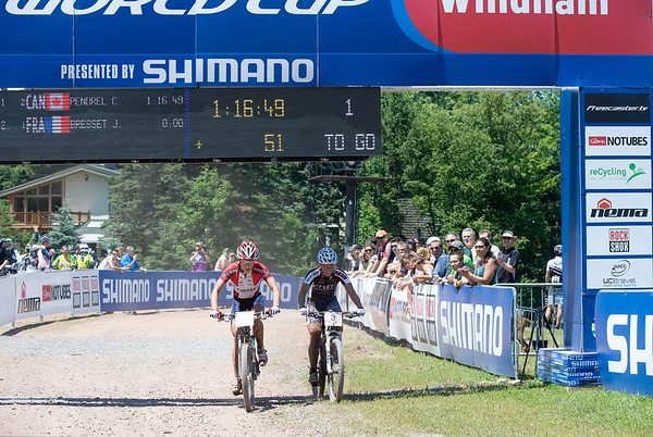 One lap to go - Annika Langvad / Marie - Helene Premont