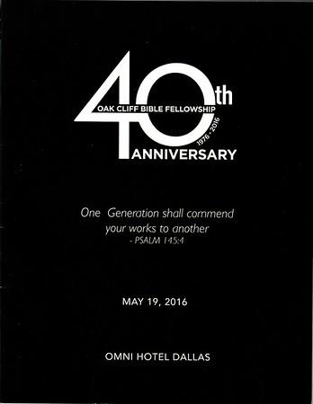 OCBF 40th Anniversary GALA
