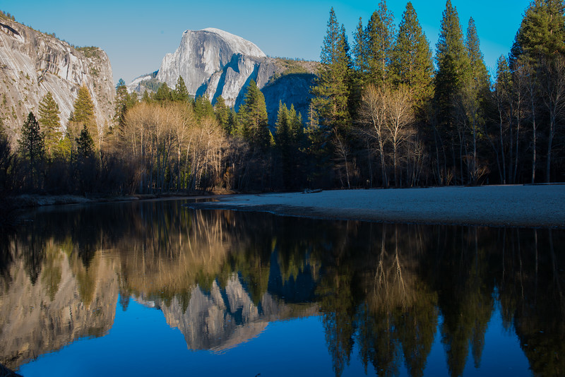 Half Dome Reflection at Camp 6, Yosemite