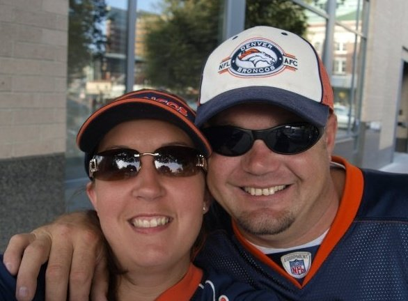 . I married a diehard Broncos fan.  He has been a true fan for 26 years.  We live in Northwest Washington State and are headed to Denver to see the Broncos stomp the Raiders on the 23rd.  My husband has never been to Mile High so I made a dream come true and got him tickets to the game for Fathers day.  We are looking forward to the trip!  Goooo Broncos!! Photo by Deanna Williams