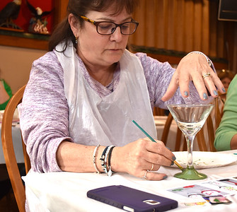Eagles Wine Glass Painting Party 12/3/2017