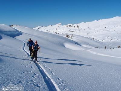 Toreck and Gottesacker plateau ski tour, 2013-03-03