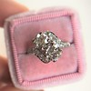 1.99ctw Vintage Old Mine Cut Bypass Ring 7