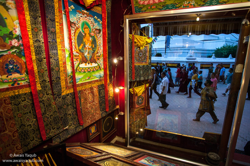 Religious art work shop in surrounding of Boudhanath