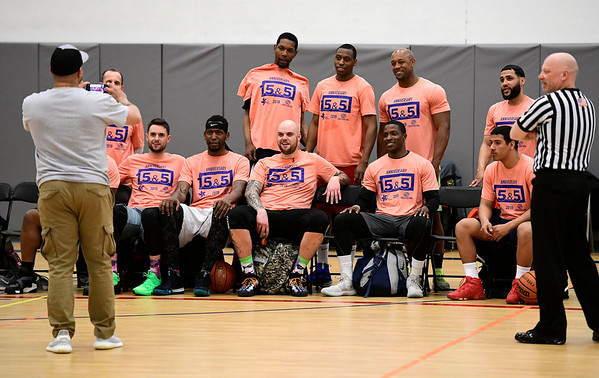 4/5/2019 Mike Orazzi | Staff Former Professional Basketball Players and College Stand Outs during Friday's Bristol's All Star Basketball Game held at the Boys & Girls Club of Bristol Family Center on West Street.