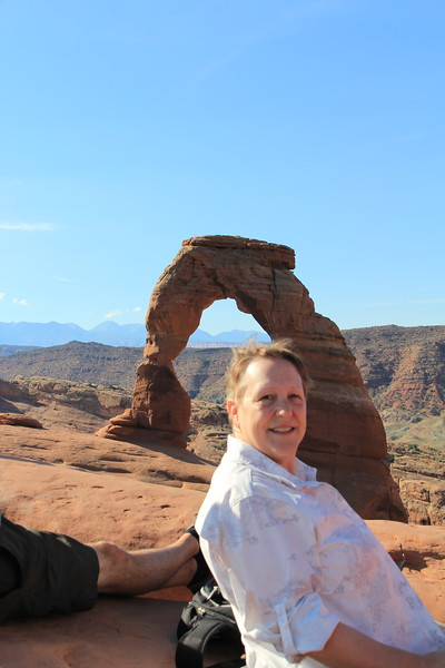 20180716-030 - Arches NP - Lisa at Delicate Arch.JPG