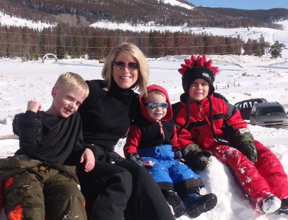 . Kristine Kirk and her children in a photo provided by the family.