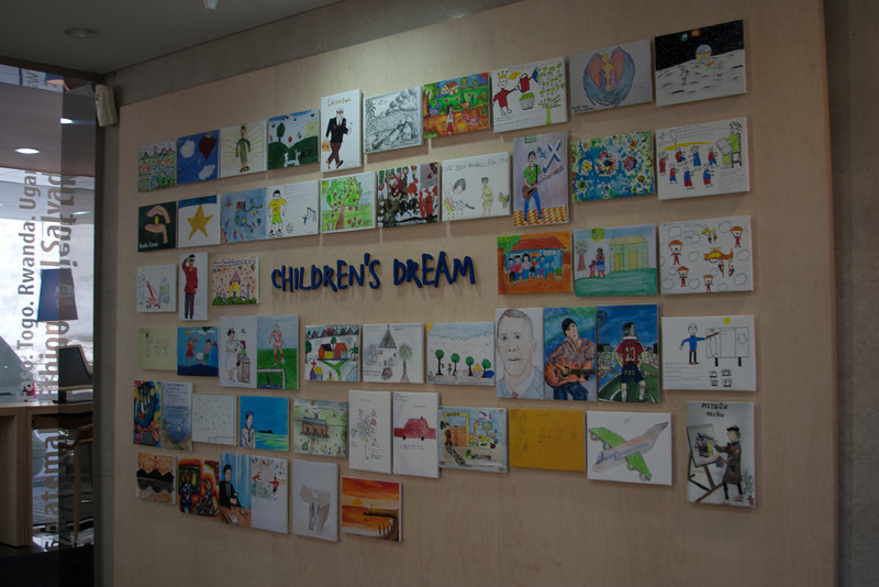 Display inside the Compassioni Building