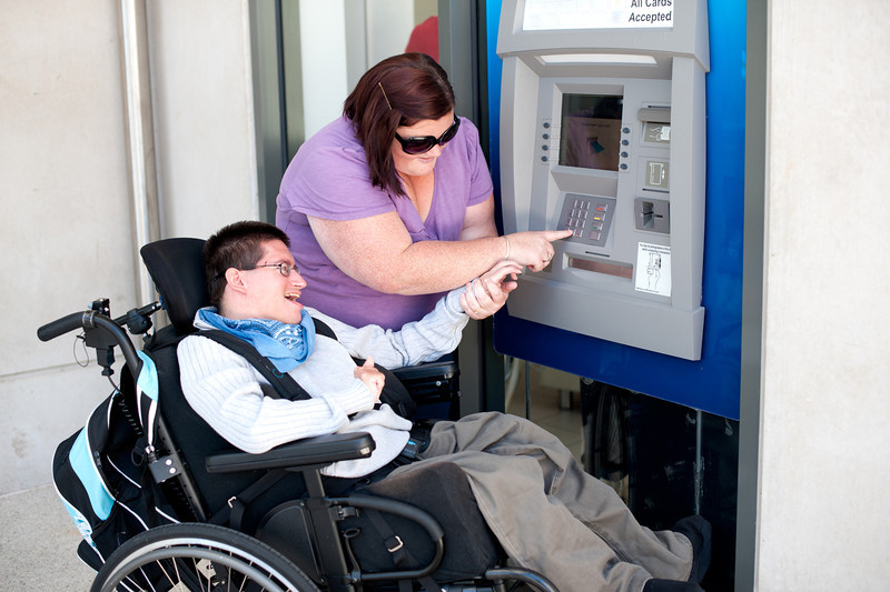 Using the ATM.
