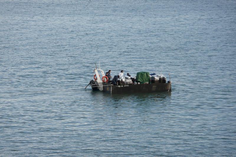 Raft on Rio Tejo. Lisbon