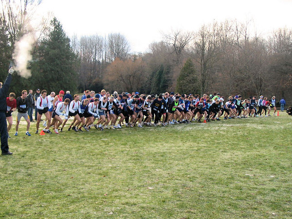 2005 Canadian XC Championships - The start of the masters race
