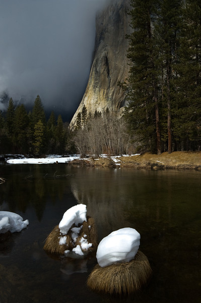 Approaching storm, Merced River and El Capitan