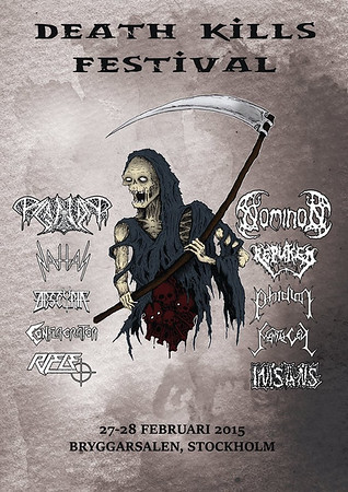 NOMINON - DEATH KILLS FESTIVAL  28/2 2015 Bryggarsalen