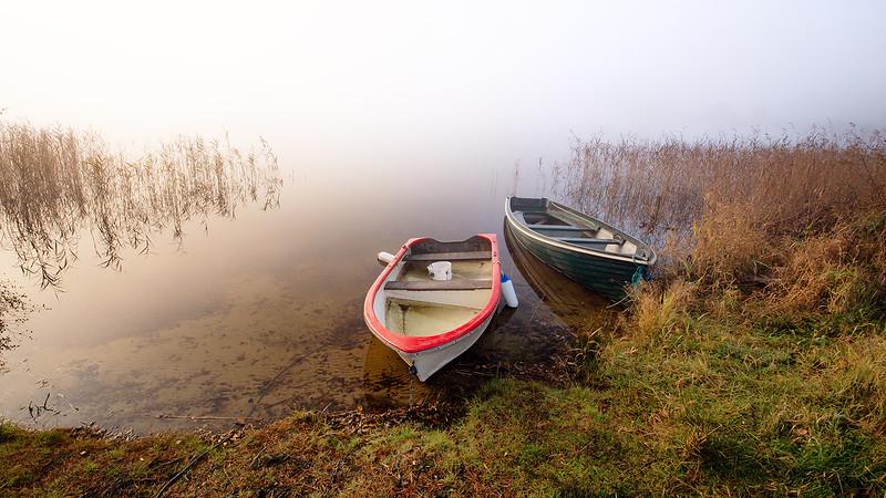 Boats at Loch Ard