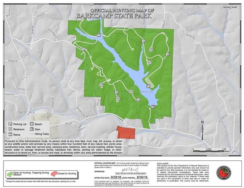 Barkcamp State Park (Hunting Map)