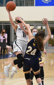Morgan Girls' Hoops Takes One-Point Loss to H-K