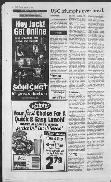 Daily Trojan, Vol. 130, No. 38, March 18, 1997