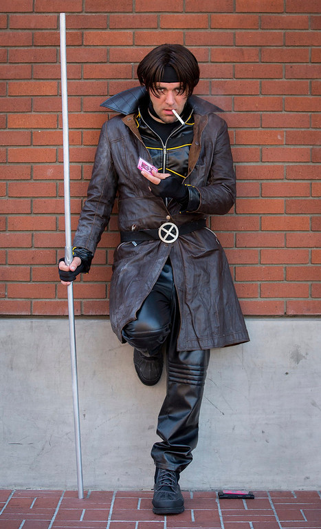 . Cosplayer Evin Van Outryve poses while dressed as comic book character Gambit during the 2013 San Diego Comic-Con (SDCC) International in San Diego, California July 18, 2013. REUTERS/Fred Greaves