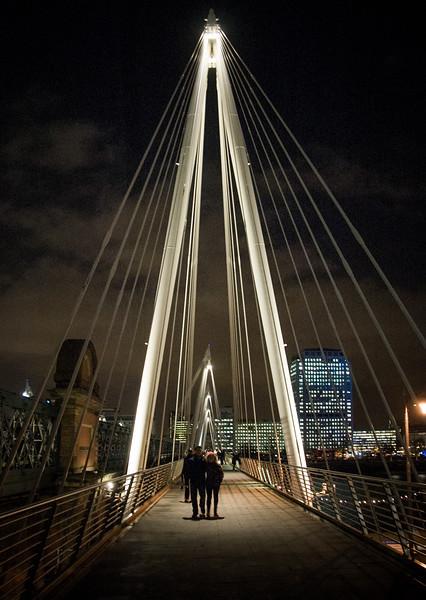 Pedestrians on Jubilee Bridge