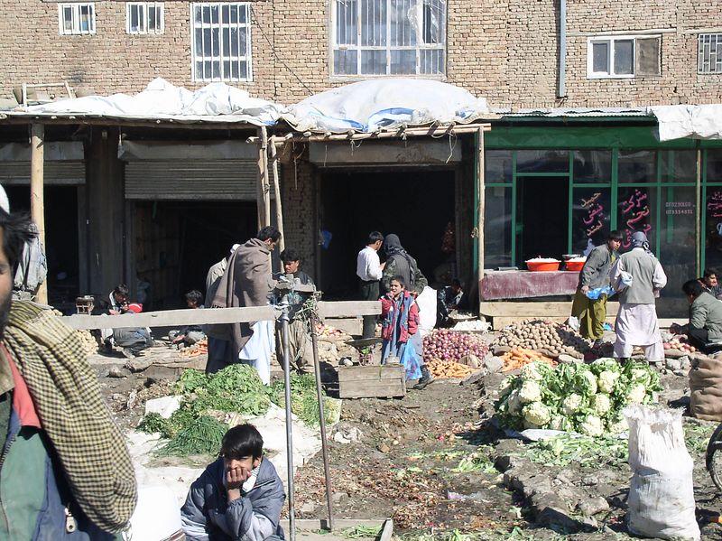 Bazaar in Kabul.