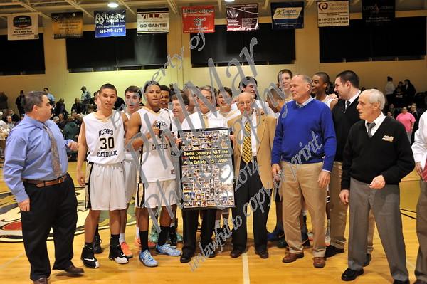 Berks Catholic vs Conrad Weiser JV and Varsity Boys Basketball 2014 - 2015