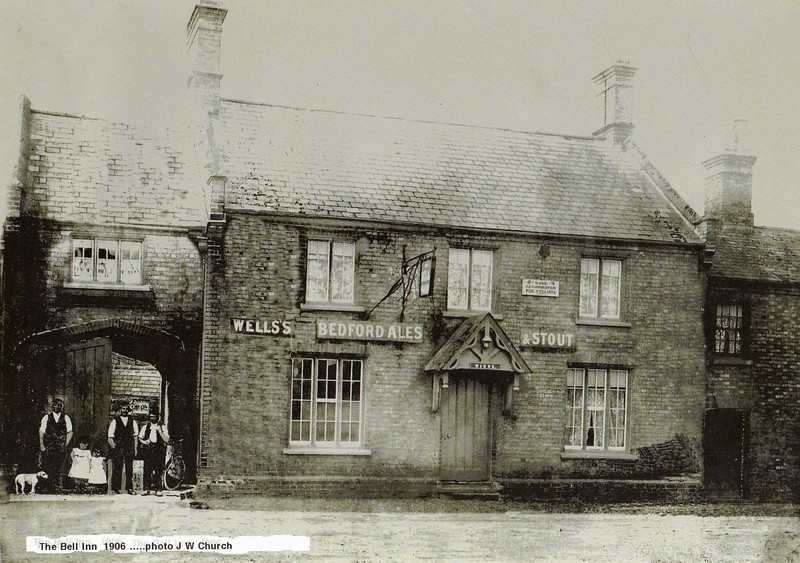 The Bell Inn Spaldwick (1906) - now Walton House. Photo provided by Peter Absalom. Originally the Blue Bell Inn, it was built sometime in the early 1820's (if not earlier) and was a coaching inn. It later became a Post Office.