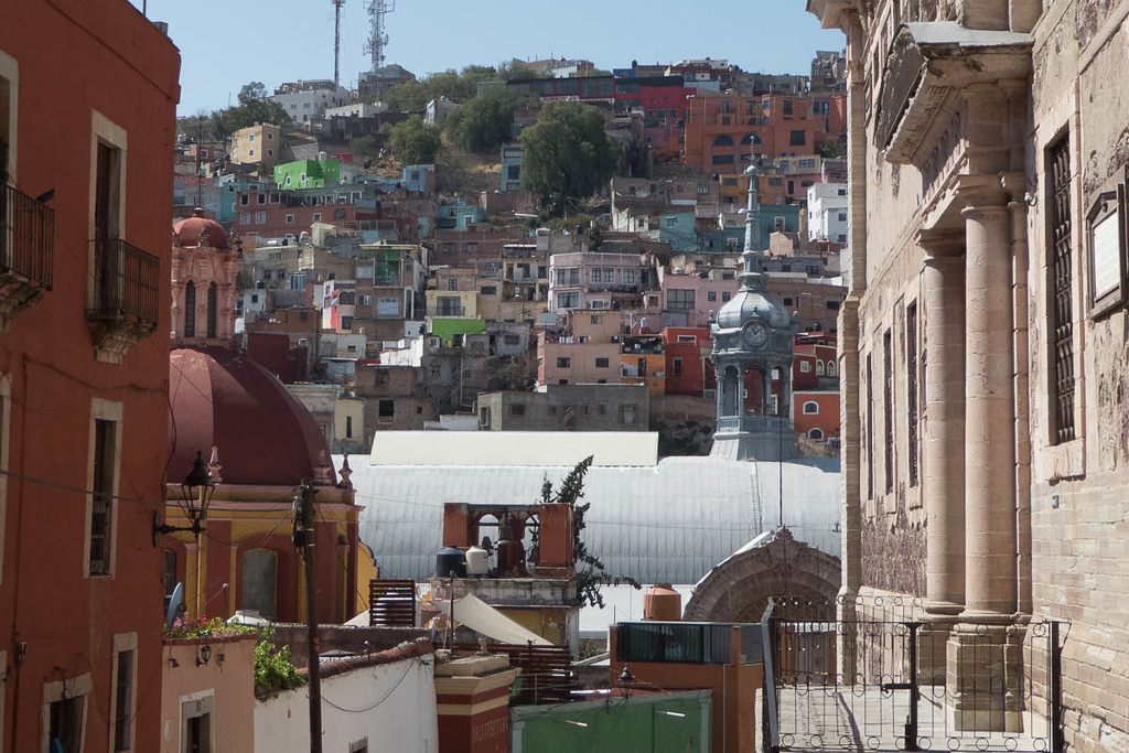 View of the Central Market Living in Guanajuato, Mexico