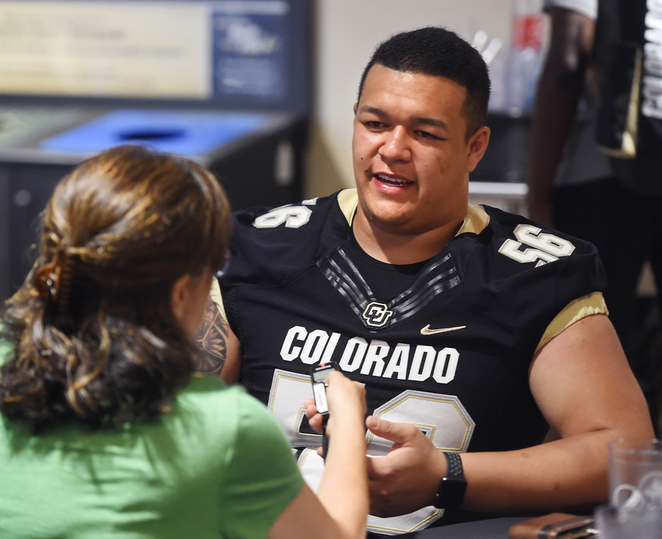 . Tim Lynott, Jr. during CU football and Fall sports media day. For more photos, go to dailycamera.com. Cliff Grassmick  Staff Photographer  August 4, 2018