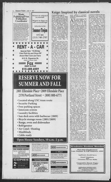 Summer Trojan, Vol. 131, No. 6, June 18, 1997