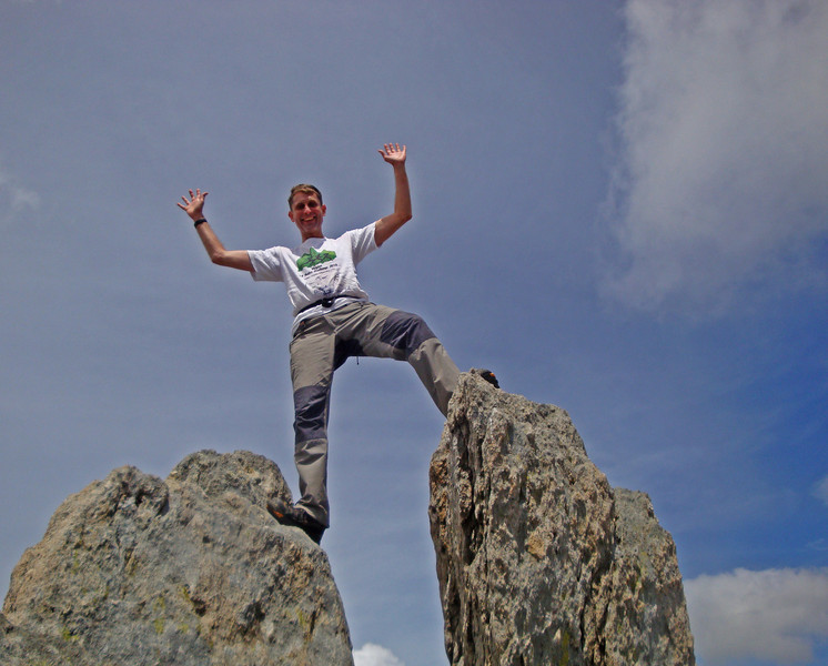 Andrew K just loves to reach the highest point. Here on Glyder Fawr summit.